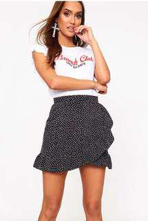 BRAND NEW Spot Frill Skirt