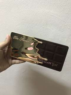 Authentic Too Faced Chocolate Gold Eyeshadow Palette