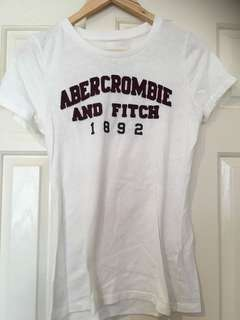Abercrombie and Fitch white tshirt