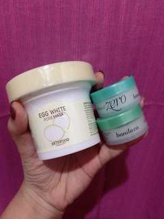 BUNDLE SALE Skinfood Egg white pore mask + 2 pcs Banila Co. Clean it zero (travel)