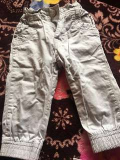 Jogger Pants for your 9-12 months Baby Boy, Light Gray in Color, Slightly used, outgrown. Almost New #garagesale3