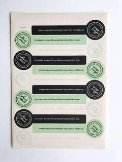 """Handmade"" Seal Stickers"