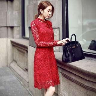 Feminine Lace Dress 80098 CF*ready stock*
