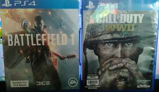 PS4 Games battlefield and call of duty