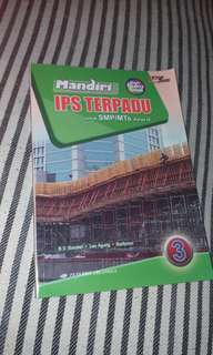 Buku sekolah soal IPS Terpadu kelas IX (3 SMP/MTs) Mandiri, penerbit Erlangga