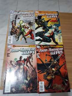 Dc comics RANN-THANAGAR WAR # 1, 3, 4 and 5