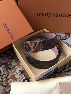Louis Vuitton Unisex LV Leather Belt