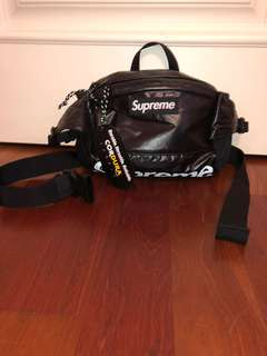 Black Fw17 Reflective Supreme Fanny Pack