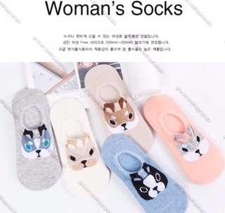 Korean Cute Puppy Ankle Socks