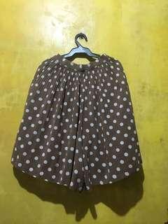 Skirt shorts polka