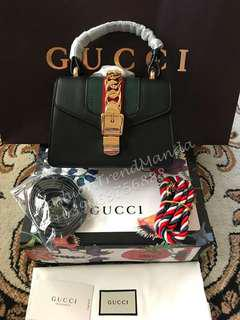 Gucci Leather Sylvie Mini Sling Bag