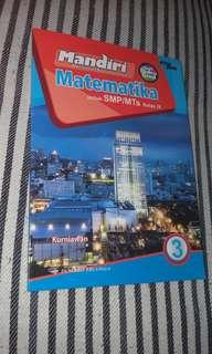 Buku sekolah soal MATEMATIKA kelas IX (3 SMP/MTs) Mandiri, penerbit Erlangga