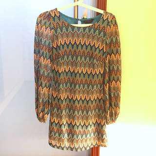 Miss Selfridge Pattern Zigzag Dress