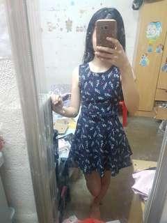 🔥limited time promotion!🔥Blue short Dress with belt