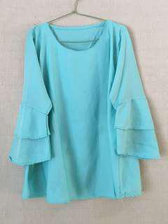 Blouse trompet mint