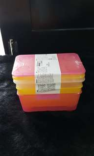 NEW IKEA Set of 3 Storage Boxes w/ Lid (Singapore)