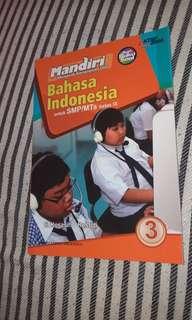 Buku Soal BAHASA INDONESIA kelas IX (3 SMP/MTs) Mandiri, penerbit Erlangga