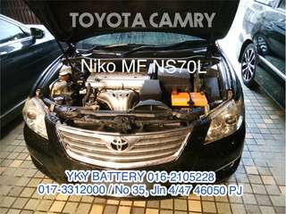 Bateri Kereta , Toyota Camry , Niko MF NS70L
