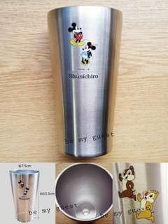 《日本訂製》訂製姓名 個人化 迪士尼 米奇米妮 Mickey & Minnie 不銹鋼真空雙層杯 340ml 禮物