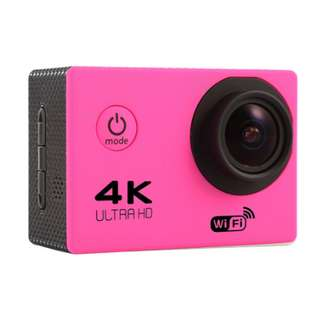 HD 4K sports outdoor camera F60 WIFI adventure waterproof camera 2.0 inch super wide angle full V3 (PINK)