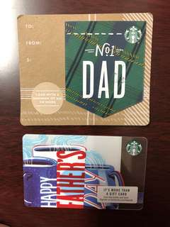 Starbucks Card for your DAD (US collectible only)