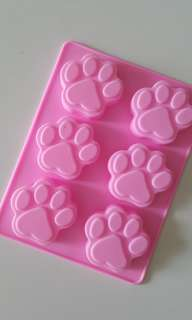 Silicone Paw Print Mold for Resin