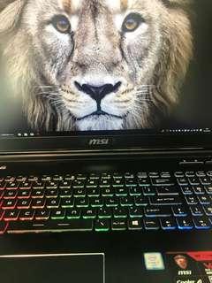 Msi gaming laptop gtx1060 6gb ddr5