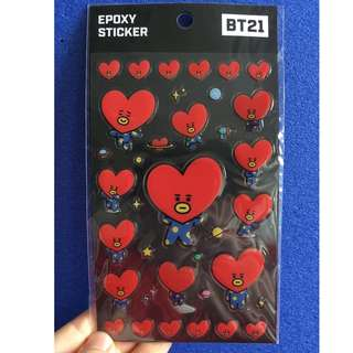 ready stock: official BT21 Tata epoxy sticker