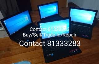 BUY/SELL/REPAIR LAPTOPs/Desktops/iphones,upgrade buyback & buy/sell services,islandwide collection