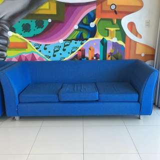 3 seater Blue Sofa
