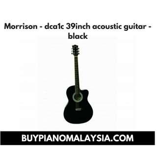 Morrison - dca1c 39inch acoustic guitar - black