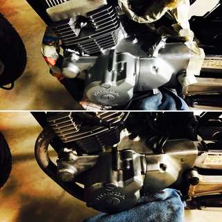 ⭐️Engine block spray painting , Mobile Bike Grooming and Bike wash⭐️