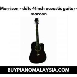 Morrison - dd1c 41inch acoustic guitar-maroon