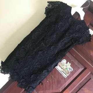 SUPER MURAH & BAGUS Dress Brukat Halus Hitam