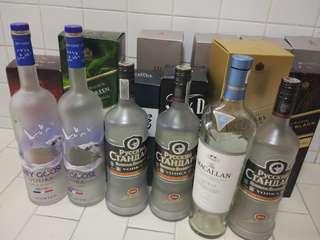 Bottles empty