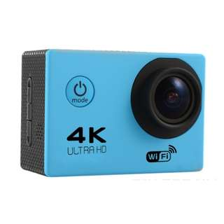 HD 4K sports outdoor camera F60 WIFI adventure waterproof camera 2.0 inch super wide angle full V3 (BLUE)