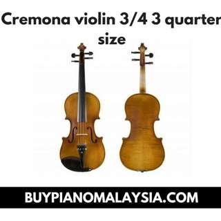 Cremona - violin 3/4 3 quarter size