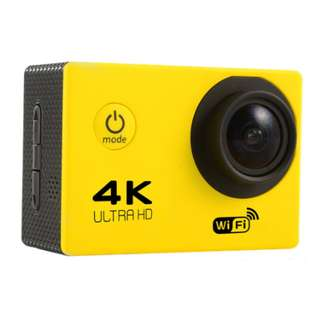 HD 4K sports outdoor camera F60 WIFI adventure waterproof camera 2.0 inch super wide angle full V3 (YELLOW)
