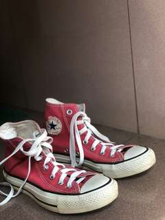 Red Converse High Top Womens