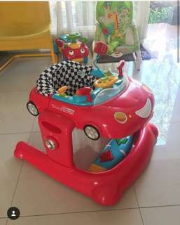 Elc baby walker car red
