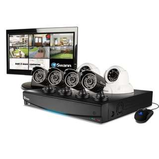 "CCTV - SWANN DVR8-3425 8 Channel 960H Digital Video Recorder, 4 x PRO-735 Cameras, 2 x PRO-736 Cameras & 15"" LCD Monitor"