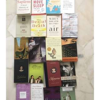 Various books (fiction and non fiction)