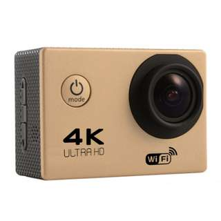 HD 4K sports outdoor camera F60 WIFI adventure waterproof camera 2.0 inch super wide angle full V3 (GOLD)