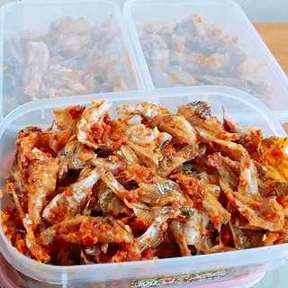 Ikan asin Tawar Balado Renyah