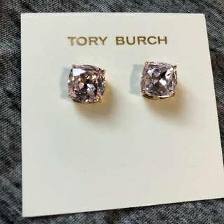 Tory Burch Crystal Sample Earrings 淺粉紅水晶襯金色耳環