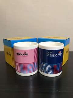 Legoland Malaysia Resort Pink & Blue Porcelain Mug (Set Of 2)