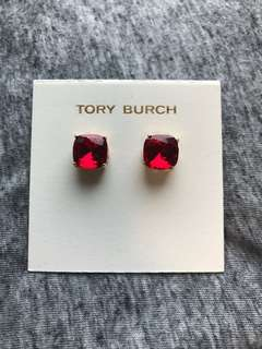 Tory Burch Crystal earrings Red 紅色水晶耳環配金