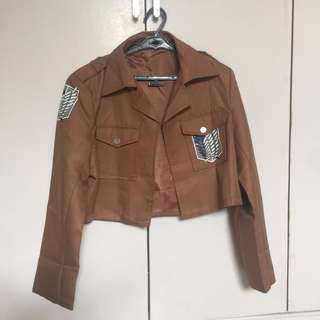 (set, free shipping) SHINGEKI NO KYOJIN Survey Corps Jacket + Cape