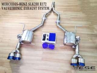 MERCEDES BENZ SLK200 R172 VALVETRONIC EXHAUST SYSTEM
