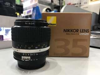 Nikon 35mm F1.4 AIS LENS